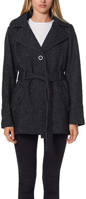 Liz Claiborne Fleece Hooded Belted Lightweight Jacket