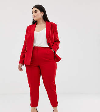 Asos DESIGN Curve red suit slim pants
