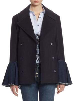 Each X Other Hybrid Bell-Sleeve Peacoat