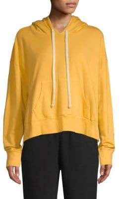 Monrow Cropped Pullover Hoodie