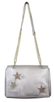 T-Shirt & Jeans Star Embroidered Foldover Flap Crossbody Bag