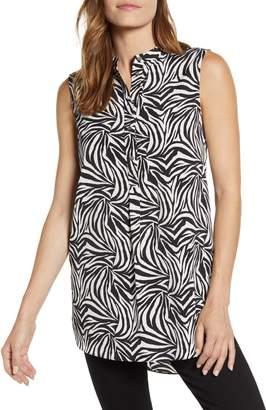 Vince Camuto Zebra Print Tunic Top