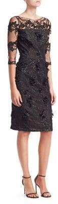 David Meister Floral Lace Sheath Dress