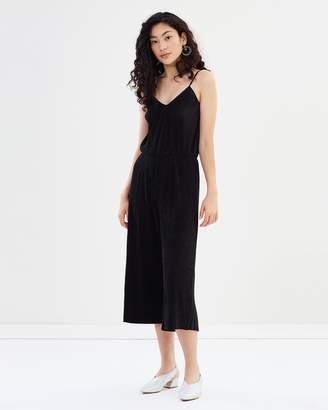 Glamorous Plisse Long Jumpsuit