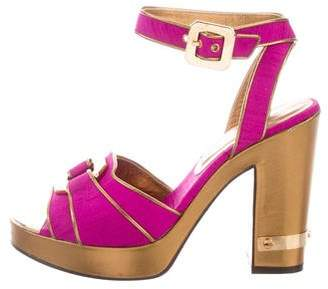 Marc by Marc Jacobs Bicolor Platform Sandals