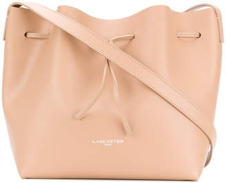 Lancaster logo bucket shoulder bag