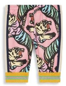 Gucci Baby Girl's Allover Print Jogging Pants - Pink Black - Size 12-18 Months