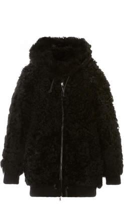 Bogner Sport Dore Hooded Shearling Jacket