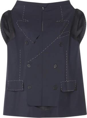 Maison Margiela Structured Mohair Wool Vest
