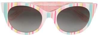 Kate Spade Mellys striped sunglasses