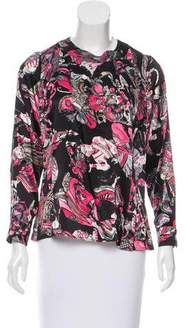 Chanel Printed Silk Top