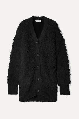 Marni Oversized Textured Wool-blend Cardigan - Black