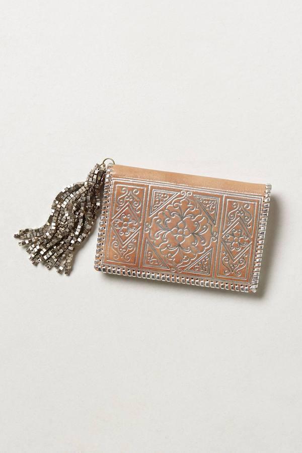 Anthropologie Tijoux Embossed Wallet