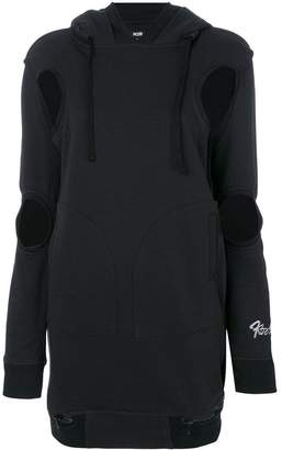 Kokon To Zai cut-embroidered hooded dress