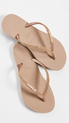 Havaianas Slim Glitter Flip Flops