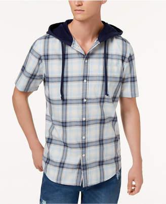 American Rag Men's Ian Plaid Hooded Shirt, Created for Macy's