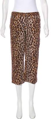 Dolce & Gabbana Mid-Rise Leopard Print Jeans