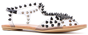 Jeffrey Campbell The Puffer Sandal in Clear and Silver