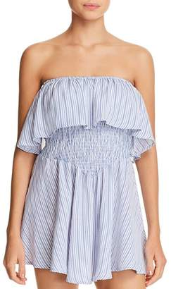 Surf Gypsy Ruffled Mini Dress Swim Cover-Up