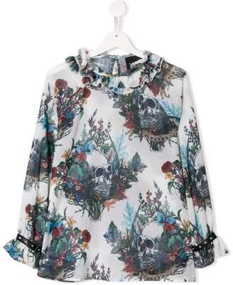John Richmond Junior TEEN mixed-print blouse
