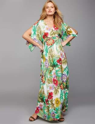 48bdf465fc09d Pietro Brunelli Tropical Print Caftan Maxi Dress