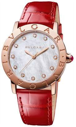 Bvlgari Rose Gold, Mother-of-Pearl and Diamond Bulgari Bulgari Lady Watch 33mm