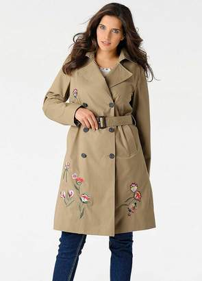 Heine Embroidered Trench Coat