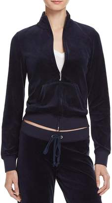 Juicy Couture Black Label Womens Fairfax Velour Track Jacket Navy XS