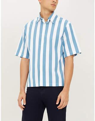 Sandro Striped cotton-crepe shirt