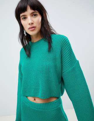Asos Design DESIGN two-piece cropped oversized sweater in rib