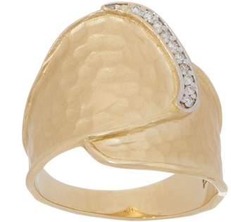 ADI Paz 14K Gold Diamond Accent Hammered Ring