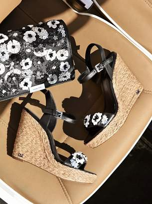 MICHAEL Michael Kors Jill Floral Sequined Leather Wedge