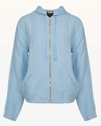 Juicy Couture Washed Linen Hooded Jacket