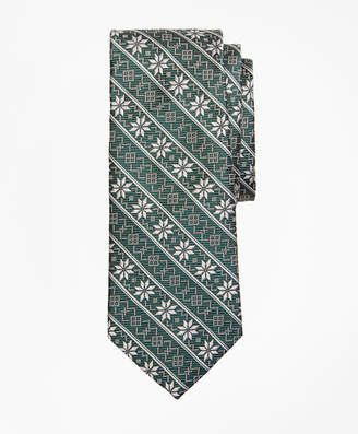 Brooks Brothers Boys Snowflake Print Tie
