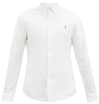 Polo Ralph Lauren Logo Embroidered Cotton Oxford Shirt - Mens - White
