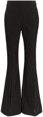 Ellery Aalto flared slit wool blend trousers