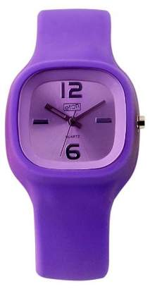 Eton Ladies Watch 2815-P with Purple Dial and Purple Rubber Strap