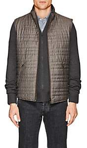 Loro Piana Men's Marlin Wool-Silk Reversible Vest - Dark Gray