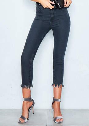 c41c5ad51639 Missy Empire Missyempire Ana Black Frayed Hem Skinny Jeans