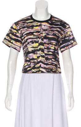 Cédric Charlier Abstract Print Short Sleeve Top
