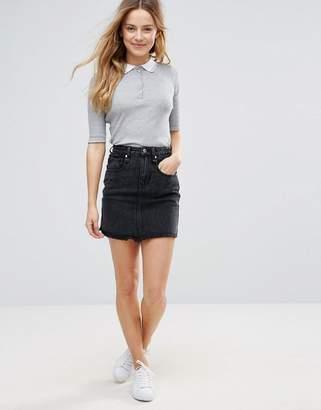 Brave Soul Acid Wash Denim Mini Skirt $29 thestylecure.com
