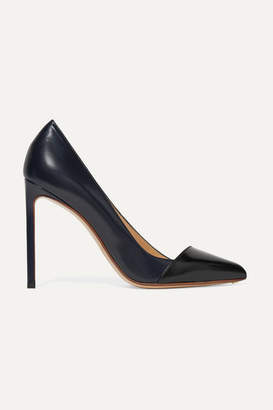 Francesco Russo Two-tone Leather Pumps - Navy