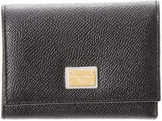 Dolce & Gabbana Dauphine Leather Flap Wallet