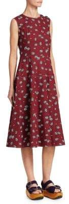Marni Floral A-Line Midi Dress