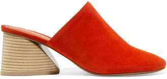 Mercedes Benz Castillo Abia Suede Mules - Bright orange