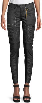 Robin's Jeans Cargo Moto Skinny Studded Pants
