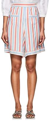 Thierry Colson Women's Simbad Striped Silk Bermuda Shorts