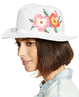 Collection XIIX Tropical Floral Fedora $24 thestylecure.com