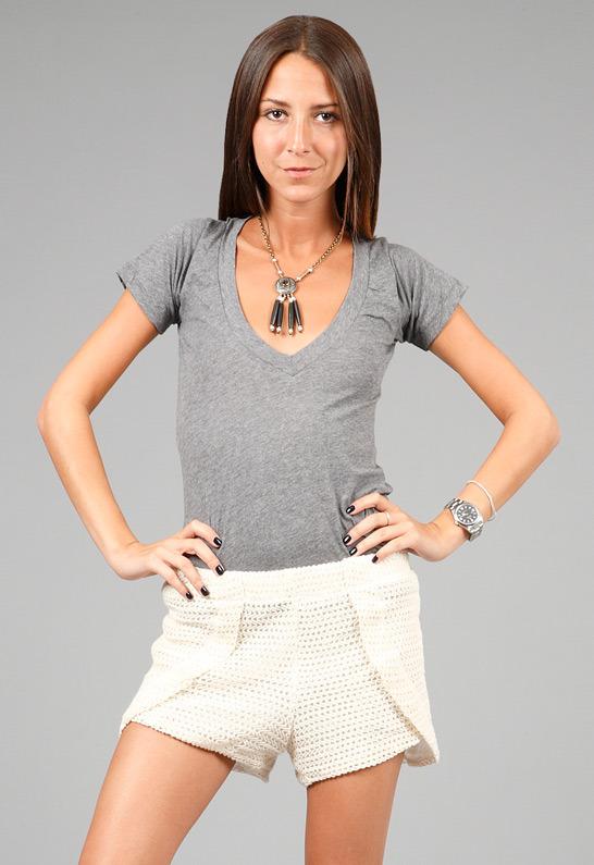 Vanessa Mooney Lone Star Short Necklace in Black -