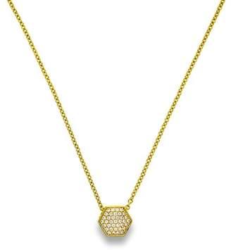 Liza Schwartz 18K Gold Plated Sterling Silver Pave Nut Pendant Necklace